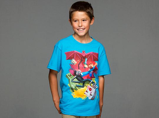 Minecraft tshirt børn