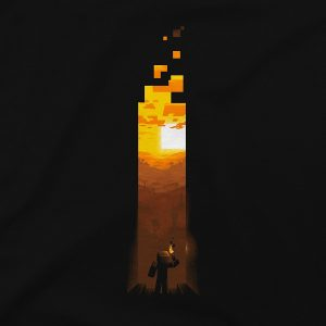 Minecraft Torch T-shirt1